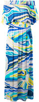 Emilio Pucci printed bardot beach dress - women - Viscose - 38