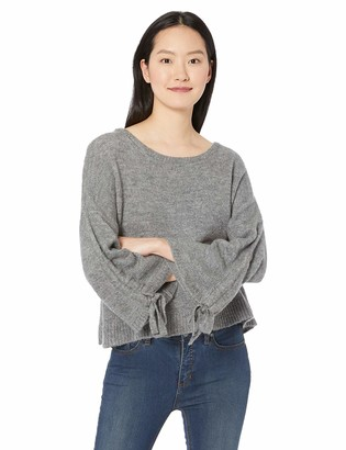 Kenneth Cole Women's L/S Cropped Boat NK W/Gathered SLVS