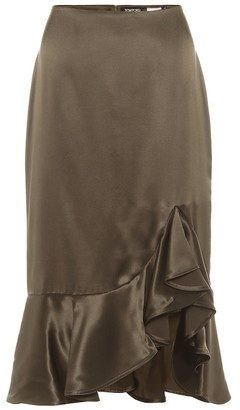 Tom Ford Silk-satin midi skirt