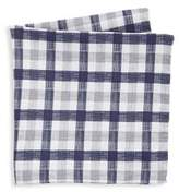 Saks Fifth Avenue COLLECTION Reversible Plaid Pocket Square