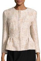 Helene Berman Sequined Tweed Peplum Jacket