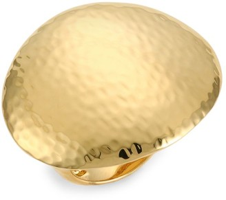 Ippolita Classico Statement 18K Yellow Gold Crinkle Dome Ring