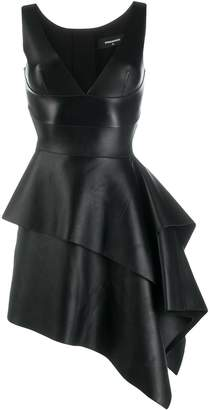 DSQUARED2 flared leather dress