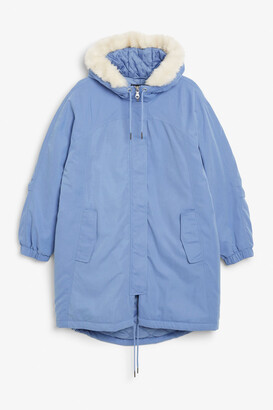 Monki Hooded parka coat