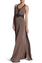 Sue Wong Halter Neckline Jeweled Dress