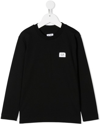 C.P. Company Kids Logo Patch Long-Sleeved Top