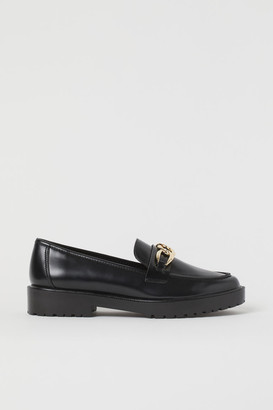 H&M Chunky-soled Loafers - Black