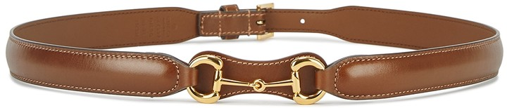 Gucci 1955 Horsebit Brown Leather Belt