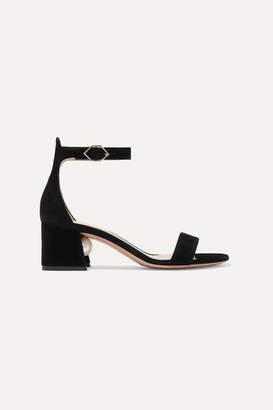 Nicholas Kirkwood Miri Faux Pearl-embellished Suede Sandals - Black