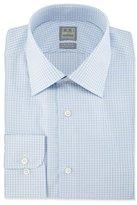 Ike Behar Check Woven Dress Shirt, Blue
