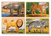 Melissa & Doug Wild Animals Jigsaw Puzzle in a Box (Set of 4)