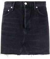 A Gold E Quinn high-rise mini denim skirt