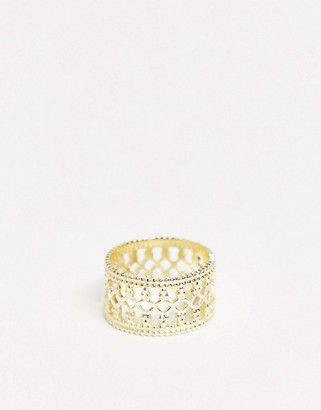 And other stories & cut out cuff ring in gold