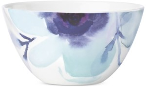 Lenox Indigo Watercolor Floral Porcelain All-Purpose Bowl, Created for Macy's