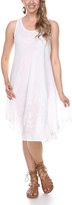 Ananda's Collection Women's Casual Dresses white - White Embroidered Swing Dress - Women