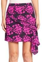 Tanya Taylor Asymmetrical Floral-Print Skirt