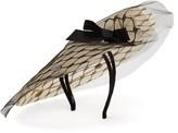 Stephen Jones Cover Tulle And Grosgrain Disc Hat - Womens - Black Beige