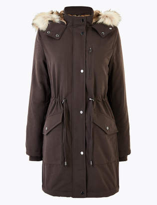 Marks and Spencer Faux Fur Lined Parka