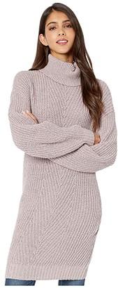 BCBGeneration Long Sleeve Tunic Sweater TFB5251767 (Charcoal) Women's Clothing