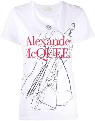 Alexander McQueen sketch print T-shirt