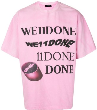 we11done logo print T-shirt