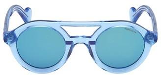 Moncler 47MM Double Bridge Round Sunglasses