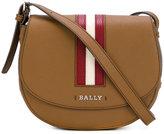 Bally striped trim cross body bag - women - Leather - One Size
