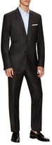 Versace Wool Solid Notch Lapel Suit