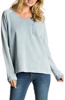 Roxy Braided Tie-Back Sweatshirt