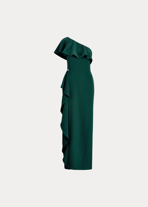 Ralph Lauren Ruffled One-Shoulder Gown