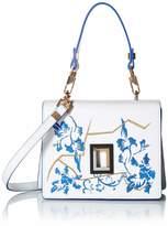 Luana Italy Women's Double L Camera Embroidered Leather Handbag