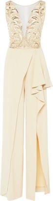 ZUHAIR MURAD Sequin-Embellished Crepe Jumpsuit