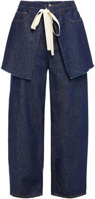 MM6 MAISON MARGIELA Layered High-rise Straight-leg Jeans