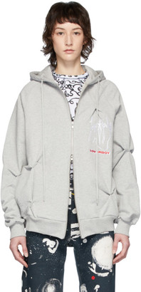 Charles Jeffrey Loverboy Grey Nervous Twist Hoodie