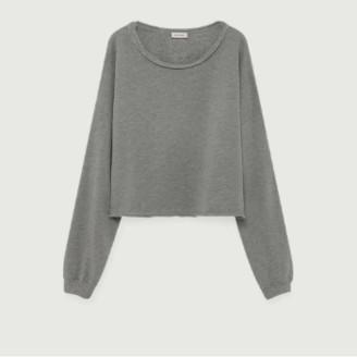 American Vintage Gray Cotton and Modal Retburg Sweatshirt - cotton | gray | Unique size