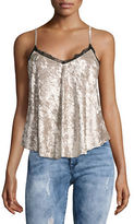 Design Lab Lord & Taylor Crushed Velvet Cami