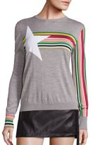 No.21 NO. 21 Rainbow Print Knit Sweatshirt