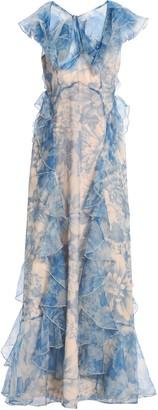 Alice McCall Ruffled Floral-print Silk-organza Gown