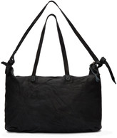 Boris Bidjan Saberi Black Nubuck Weekend Bag