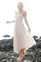 Nightcap Clothing Victorian Lace Tube Dress in Nude