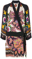 Etro floral print wrap dress - women - Silk/Viscose - 38