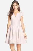 Halston Women's Cotton & Silk Fit & Flare Dress
