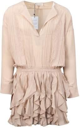 Faith Connexion Beige Silk Dresses