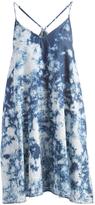 Mimichica Denim Tie-Dye Racerback Trapeze Dress
