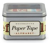 Cavallini & Co. Alphabet Decorative, 5-Assorted Rolls