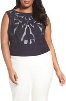 Nic+Zoe Plus Size Women's Secret Garden Sleeveless Top