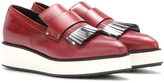 McQ by Alexander McQueen Manor Fringed Leather Platform Loafers