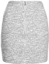 Zip pocket boucle skirt