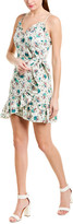 Rebecca Taylor Carnation Linen-Blend Wrap Dress