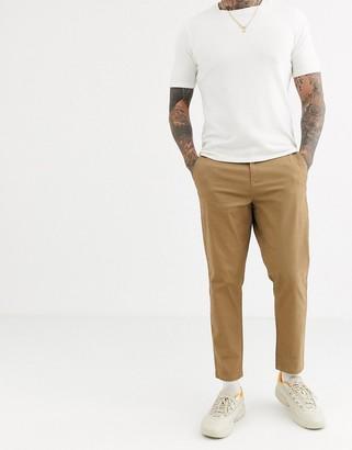 Burton Menswear tapered chinos in tan